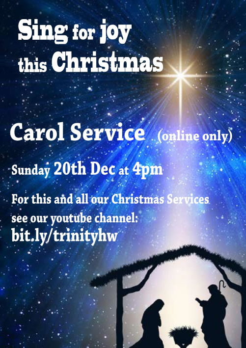 Post advertising the 2020 Carol Service